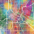 Minneapolis Minnesota City Map by Michael Tompsett