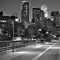 Minneapolis Skyline From Stone Arch Bridge by Jon Holiday