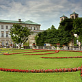 Mirabell Palace Gardens In Salzburg by Aivar Mikko