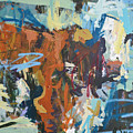 Mixed Media Cow Painting by Robert Joyner