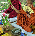 Monks Blessing Buddhist Wedding Ceremony In Cambodia by Jacek Malipan