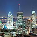 Montreal At Dusk Panorama by Songquan Deng