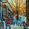 Montreal Hockey Paintings by Carole Spandau