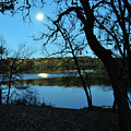 Moon Over Pierce Lake by Jeff Dostalek