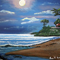 Moonlight In Rincon II by Luis F Rodriguez