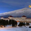 Moonrise Over The Mount Washington Hotel by Ken Stampfer