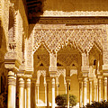 Moorish Architecture In The Nasrid Palaces At The Alhambra Granada by Mal Bray