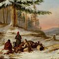 Moose Hunters by Cornelius Krieghoff