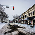 Moresville North Carolina Streets Covered In Snow by Alex Grichenko