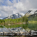 Morning Reflection On String Lake by Ray Mathis