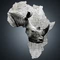 Mother Africa With A Rhino  by Etienne Outram