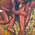 Mother And Child by Shahid Muqaddim