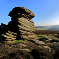 Mother Cap Gritstone Rock Formation, Millstone Edge by Dave Porter