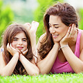 Mother With Daughter Outdoors by Anna Om