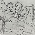 Mother With Sick Child 1878 Fig 29 9h22 6 Tg Vasily Perov by Eloisa Mannion