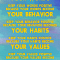 Motivational Quotes - Keep Your Words Positive - Ghandi by Celestial Images