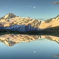 Mount Aspiring Moonrise Over Cascade by Colin Monteath