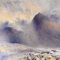 Mount Snowdon Through Clearing Clouds by Alfred William Hunt