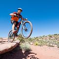 Mountain Biking The Porcupine Rim Trail Near Moab by Elijah Weber