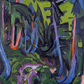 Mountain Forest Path by Ernst Ludwig Kirchner