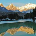 Mountain Reflections On Lago Di Barcis by Emilio Lovisa