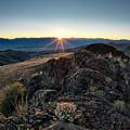 Mountain Sunrise by Leland D Howard