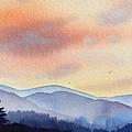 Mountain Sunset by Megan Richard
