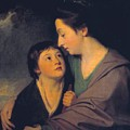 Mrs Richard Cumberland And Her Son Charles by George Romney