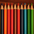 Multicolored Pencils In Rows by Jim Corwin