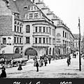 Munich, Germany, Street Scene, 1903, Vintage Photograph by A Gurmankin