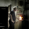 Murano Glassblower At Work by Jean Gill