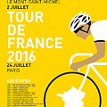 My Tour De France Minimal Poster 2016 by Chungkong Art