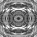 Mystical Eye - Abstract Black And White Graphic Drawing by Nenad Cerovic