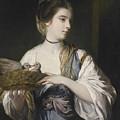 Nancy Reynolds With Doves by Joshua Reynolds
