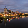 Nashville Tennessee Skyline Sunrise  by Jeremy Holmes