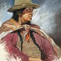Native Peruvian Woman by Oscar Cuadros