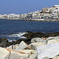 Naxos Greece Harbor by Sally Weigand