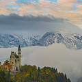 Neuschwanstein Castle Landscape by Valerio Poccobelli