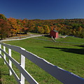 New England Barn In Autumn by Jf Halbrooks