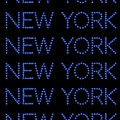 New York - Blue On Black Background by LogCabinCottage