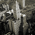 New York Woolworth Building - Vintage Photo Art Print by Peter Potter