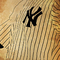 New York Yankees Baseball Team Vintage Card by Drawspots Illustrations