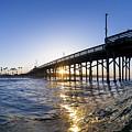 Newport Pier Curl by Sean Davey