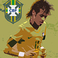 Neymar Art Deco by Lee Dos Santos