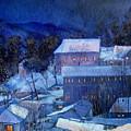 Night Scene by Abid Khan