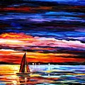Night Sea by Leonid Afremov