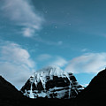 Night Sky Holy Kailas Himalayas Tibet Yantra.lv by Raimond Klavins