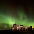 Northern Lights Canada Abandoned Building by Mark Duffy