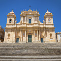 Noto, Sicily, Italy - San Nicolo Cathedral, Unesco Heritage Site by Paolo Modena