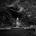 Notre Dame University Black White by David Haskett II